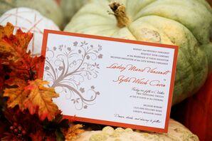 Whimsical Tree Wedding Invitations