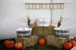 Rustic Cocktail Hour Display