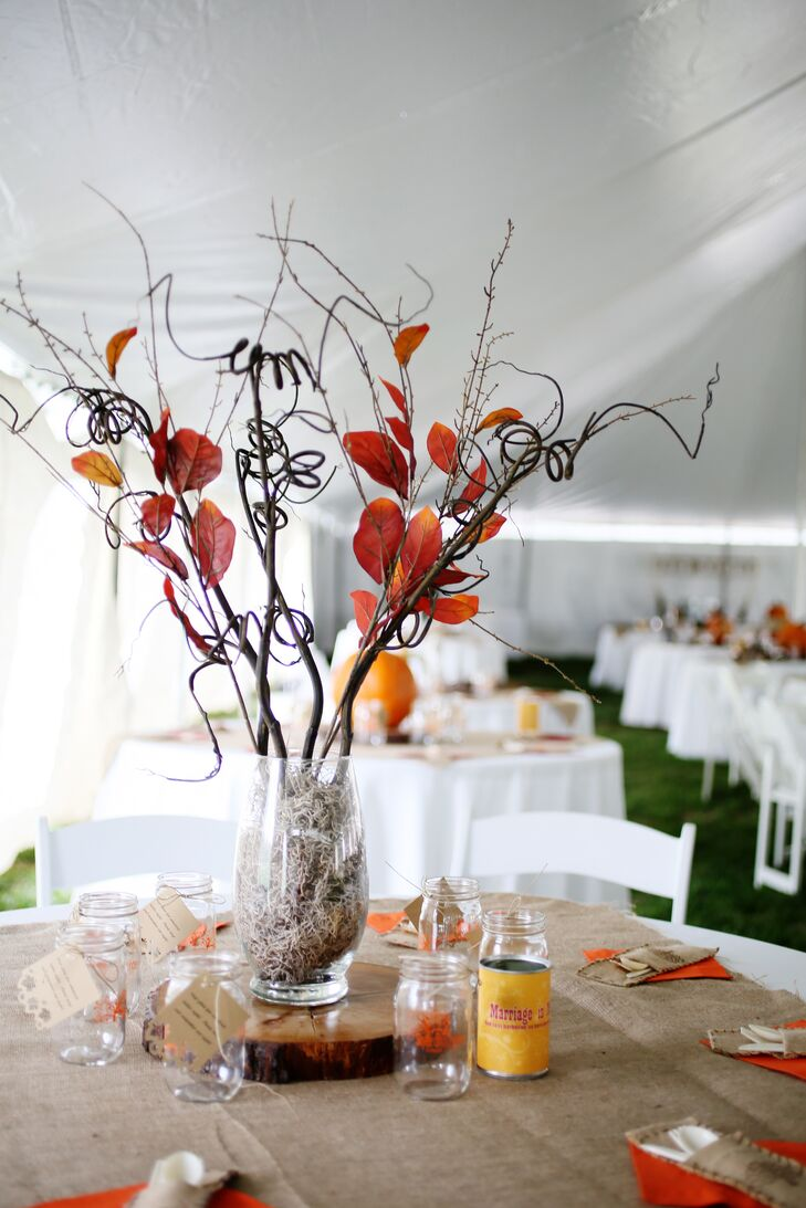 Rustic Fall-Inspired Centerpieces