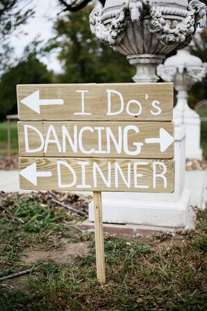 Rustic DIY Wooden Wedding Sign