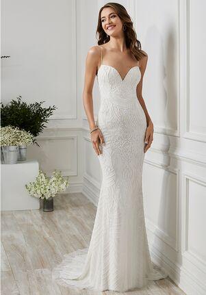 Adrianna Papell Platinum Destination 40187 Sheath Wedding Dress
