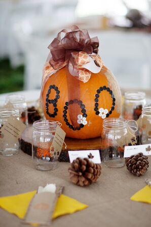 DIY Decorated Pumpkin Centerpieces