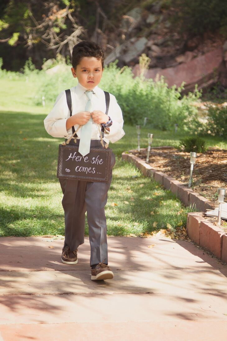 Ring Bearer with Chalkboard Sign