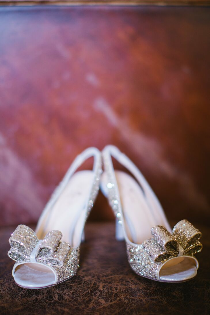 Kayla wore a gorgeous, glittery pair of Kate Spade slingbacks.