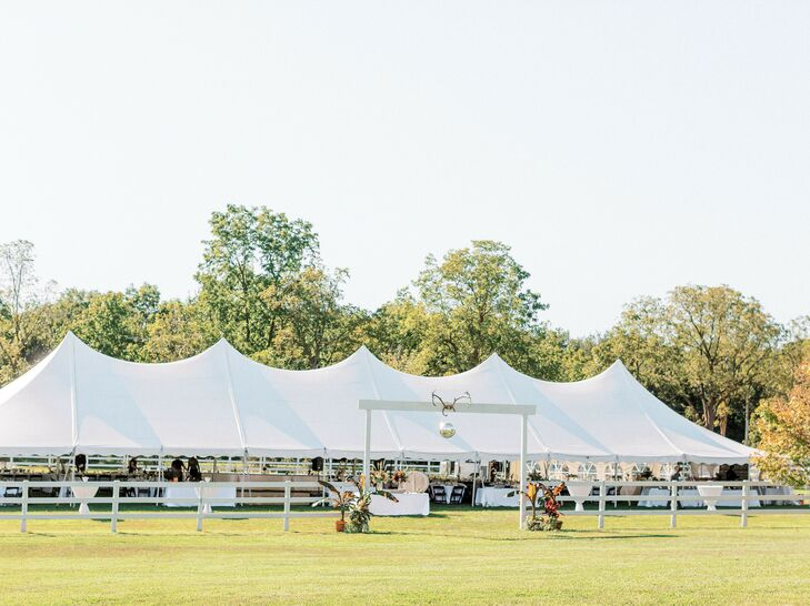 Tented Wedding Reception in Ann Arbor, Michigan