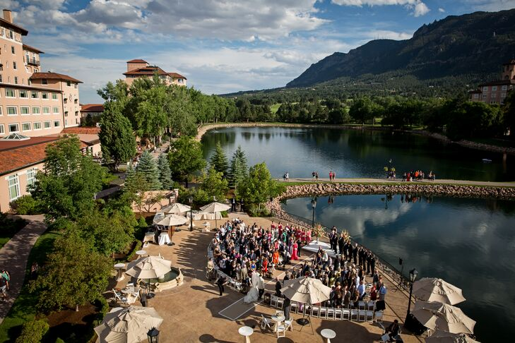 """We visited and stayed at the Broadmoor in Colorado Springs years ago,"" Melissa says. ""We both fell in love with it. I said one day I would love to get married here. The Broadmoor is gorgeous! The ceremony was held at the Lakeside Terrace."""