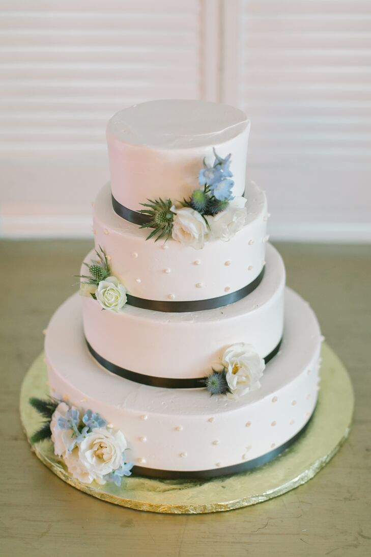 Polka Dot Buttercream Wedding Cake