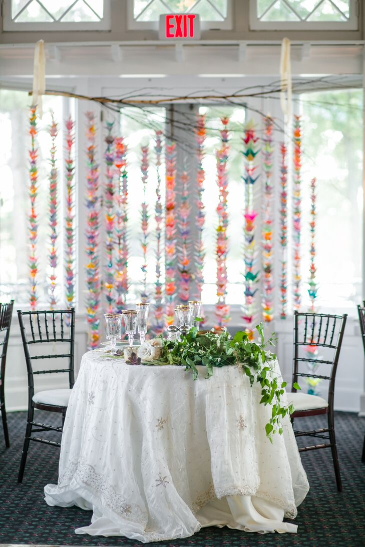 Colorful Hand-Folded Origami Backdrop