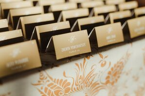 Gold-Plated Place Cards