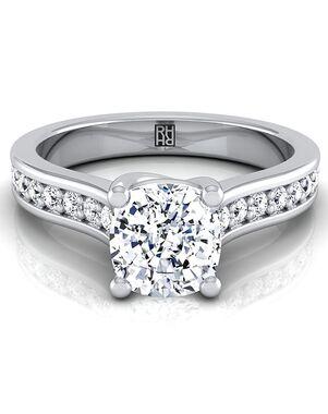 RockHer Glamorous Cushion Cut Engagement Ring
