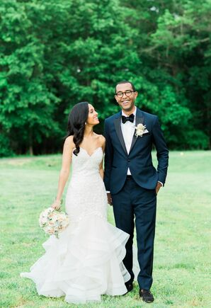 Bride and Groom at Their Spring Wedding at The Bellevue Conference & Event Center in Chantilly, Virginia