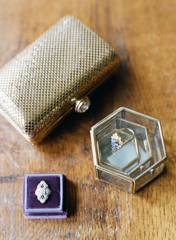 Vintage Art Deco Diamond Engagement Ring Box