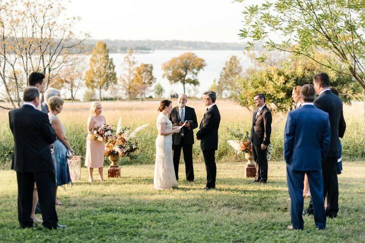 Outdoor Ceremony at Trinity River Audubon Center in Dallas, Texas