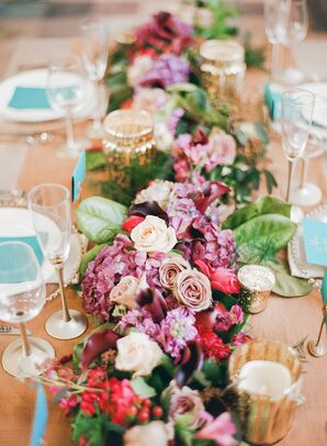 Fall-Colored Floral Centerpieces