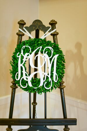 Custom Monogrammed Ceremony Wreath