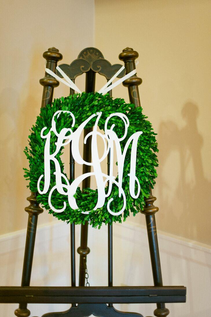 Custom Monogrammed Ceremony Wreath