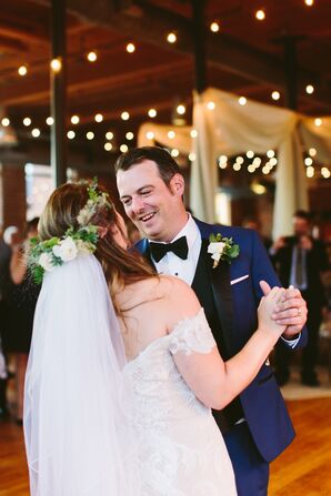 Romantic First Dance with Bride in Flower Crown