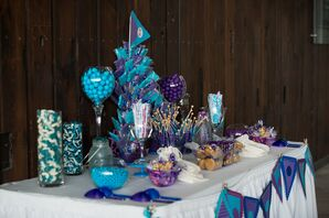 Blue, White and Purple Candy Bar