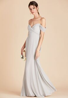 Birdy Grey Spence Convertible Dress in Dove Gray V-Neck Bridesmaid Dress