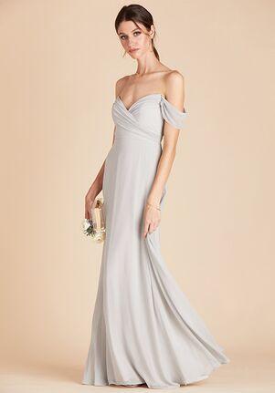 Birdy Grey Spence Convertible Dress in Dove Gray V-Neck Bridesmaid Dress