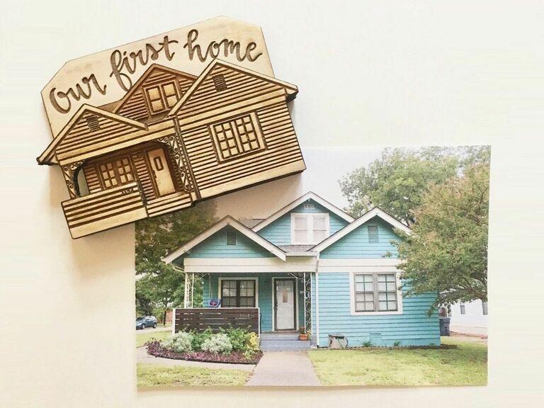 custom house magnet gift for newlyweds