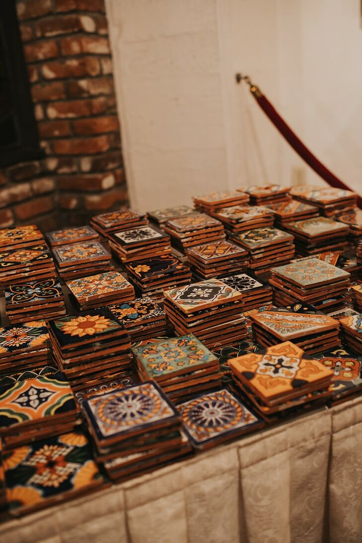 Spanish-Inspired Tile Wedding Favors