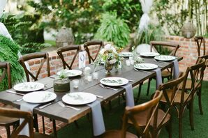 Wood Dining Tables With Cross-Back Chairs