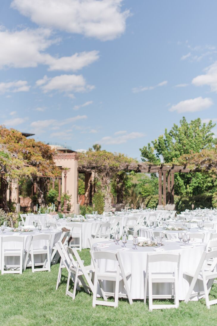 With a venue exuding Southwestern charm and a color palette of pink, ivory and gold hues, Allison Anderson and James Wenzel's spring wedding was the p