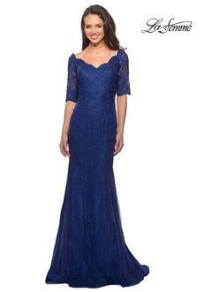 La Femme Evening 26943 Blue Mother Of The Bride Dress
