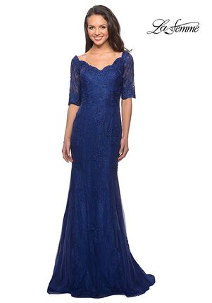 La Femme Evening 26943 Blue Mother Of The Bride Dress