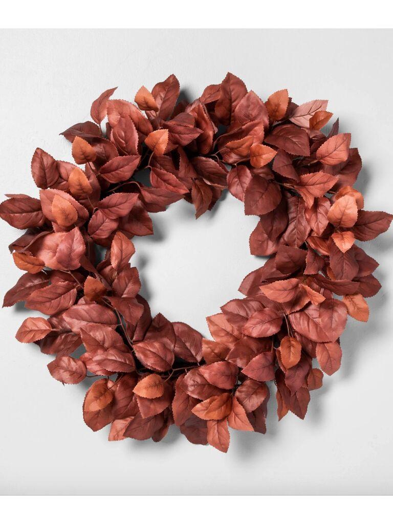Backyard wedding ideas wreath