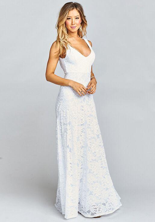 19a4c6396650 Show Me Your Mumu Jenn Maxi Dress - Lovers Lace White V-Neck Bridesmaid  Dress