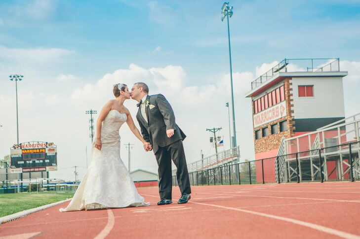High school sweethearts Linda and Kyle visited their alma mater for a trip down memory lane.