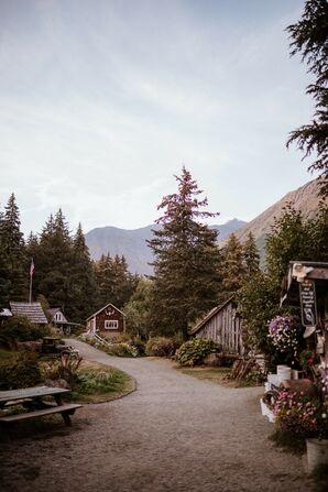 Natural Wedding at Crow Creek Mine in Girdwood, Alaska
