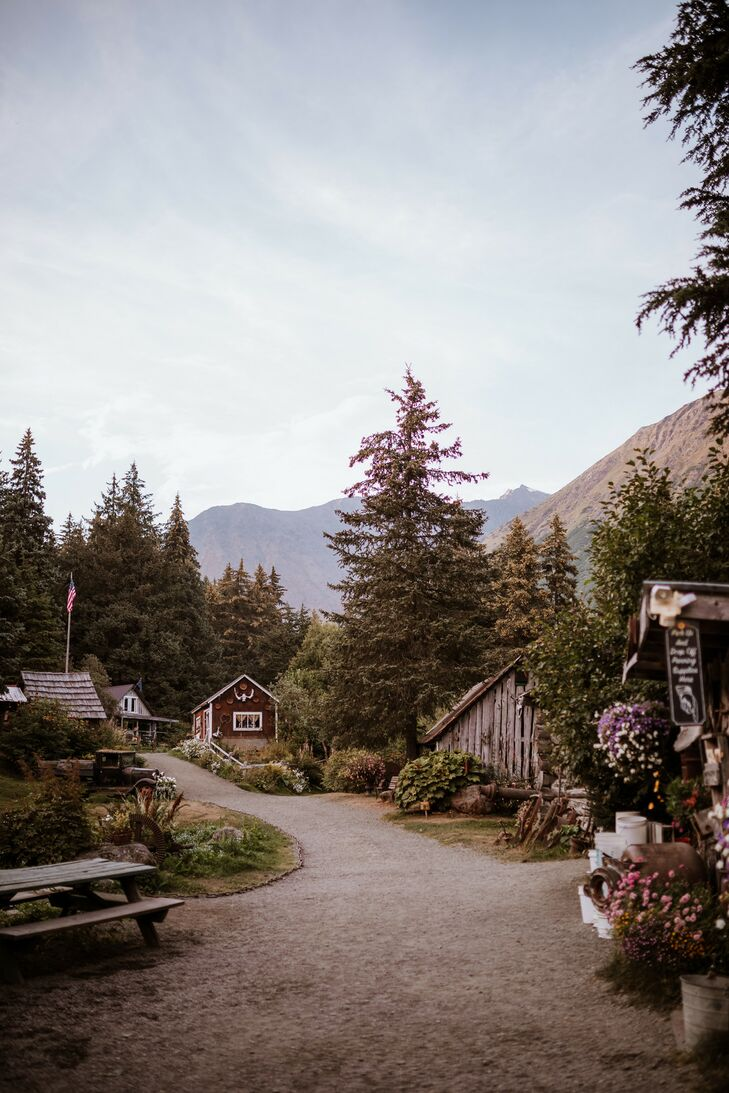 Natural Wedding at Crow Creek Mine in Girdwood, Alaska