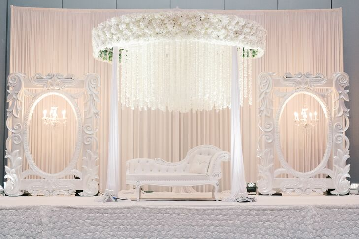Glamorous White Wedding Decor at the Kansas City Convention Center in Missouri