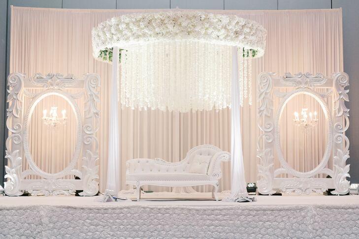 Glamorous White Wedding Decor at the Kansas City Convention Center in Missouri