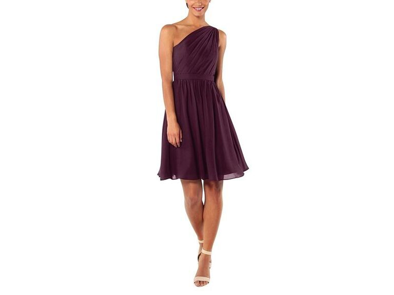 Short purple bridesmaid dress under $100
