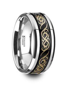 Mens Tungsten Wedding Bands W4287-BCTP Tungsten Wedding Ring