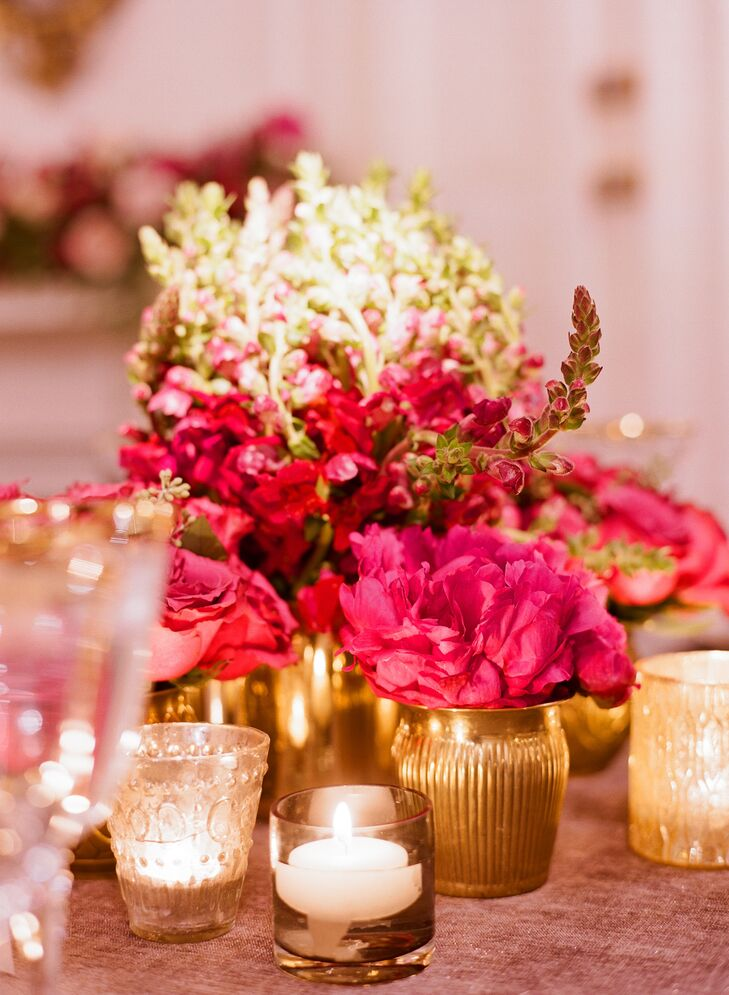 Glam Pink and Gold Centerpiece