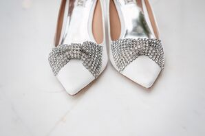 Crystal Bow Badgley Mischka Wedding Shoes
