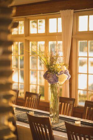 Tall Vase Hydrangea Centerpiece Decor