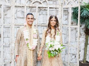 "For their late summer wedding in Toronto, Rubina Sobhee and Arjun Basu planned a fun-filled Hindu fete laced with tradition and glamour.<br><br>""We wa"