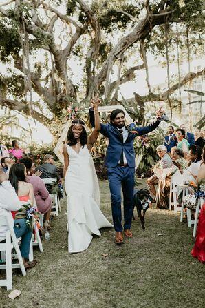 Wedding Recessional at the Miami Beach Botanical Garden in Miami Beach, Florida