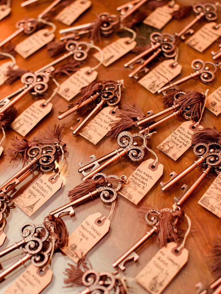 European Palace-Inspired Escort Cards With Keys