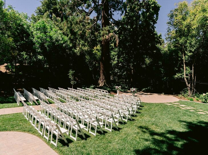 Ceremony Chairs for Wedding at The Old Homestead in Crockett, California