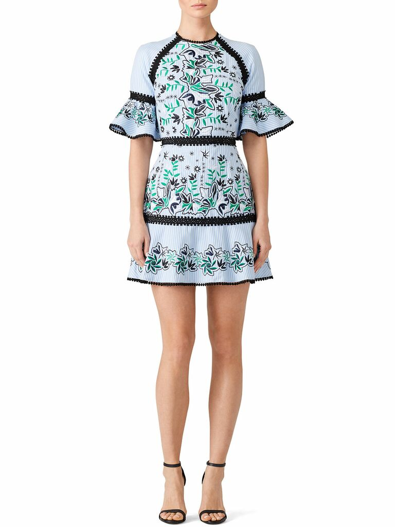 embroidered logan mini dress