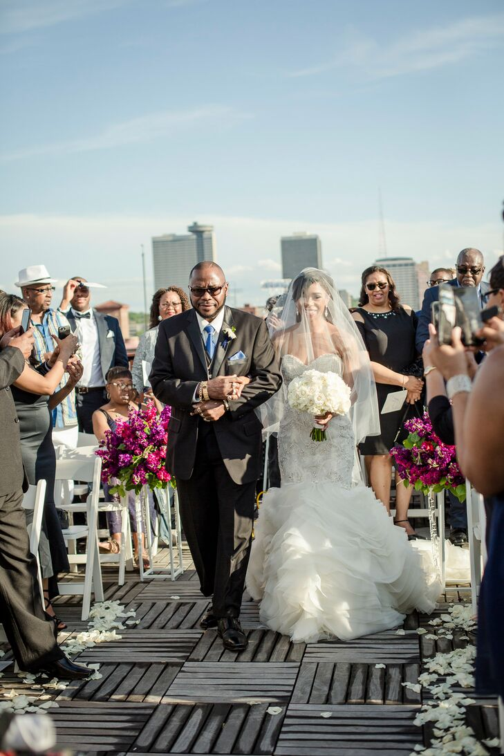 Bridal Processional at Terrace on Grand in Kansas City, Missouri
