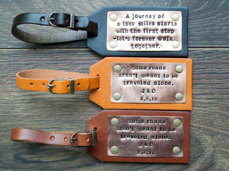 typer-writer inspired luggage tags