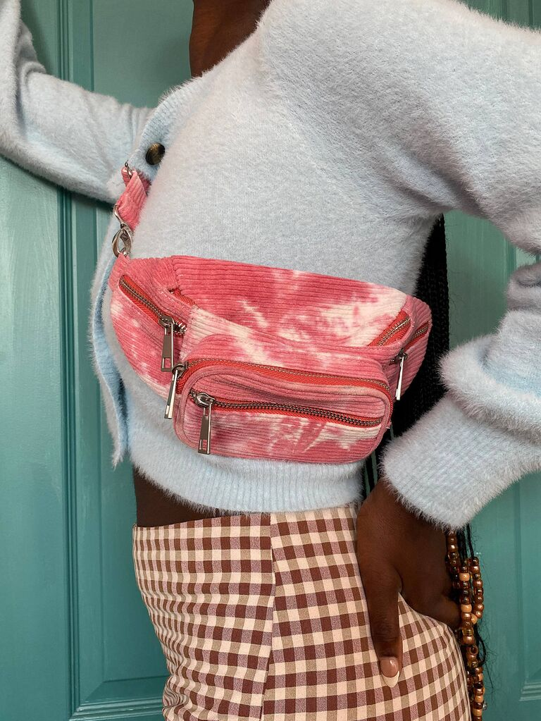 Tie dye fanny pack bachelorette party gift for bride